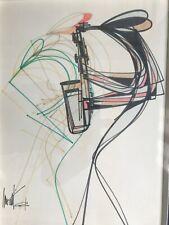 """Nouvelle annonce """"Le Saxophoniste"""" dessin original plume et encres de Raymond Moretti 1962"""