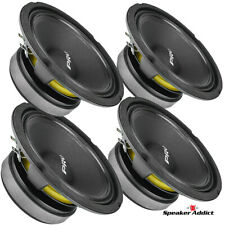"4-PACK PRV Audio 6MB200 V2 6-1/2"" Midbass Woofer 8ohm 200W Strong Voice Midrange"