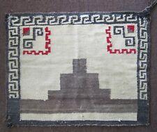 "Antique Navajo Saddle Blanket, Hand Woven Native American Wool Rug 25"" x 32"""