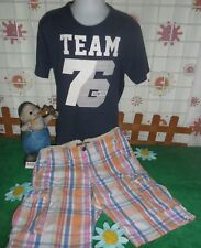 vêtements occasion garçon 12 ans,bermuda HetM,tee-shirt