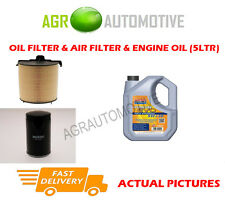 GAS OIL AIR FILTER KIT + LL 5W30 OIL FOR VOLKSWAGEN CADDY 2.0 109 BHP 2010-