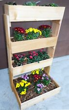 Cedar Vertical Wall 4 Tier Raised Planter Bed .New Free Shipping !