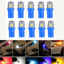 10x Ice Blue T10 5050 W5W 5 SMD 194 168 LED Car Side Wedge Tail Light Lamp Bulb