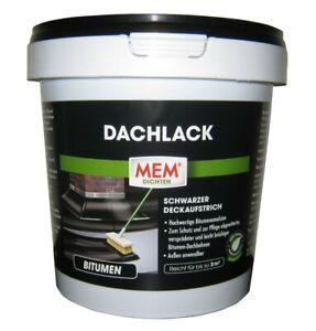 MEM Dachlack schwarz, 1 l  Deckaufstrich   Bitumen   Kaltanstrich Grundierung &