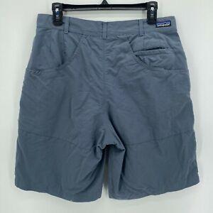 Patagonia Shorts Men's Size 32 Gray Vtg 90s Hiking Outdoors Belt Loop Pockets