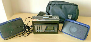 AIWA stero cassette player HS-G35 Mkll Graphic EQ, Sony SRS-22 speakers + pouch