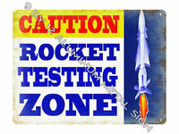 Super Rocket Launch Pad SIGN Estes Rocketry Model Kit Toy Set / thick METAL sign