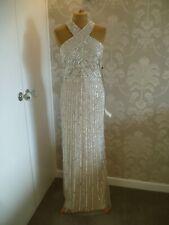 Vestido de noche Adrianna Papell desnuda lentejuelas talla 16-BNWT PVP £ 300.00