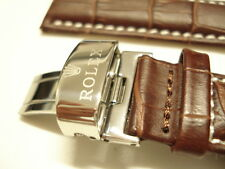 NEW ROLEX 20mm WATCH STRAP LEATHER Brown + GIFT