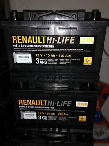 Batteries Neuves Start and Stop OEM Renault/Varta 70ah 720Aen