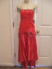 NWT $178 hot pink sequns/satin gatsby formal gown costume dress size 9/10