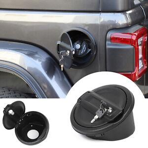 for Jeep Wrangler JL 2018-2021 Gas Cap Cover Fuel Filler Door Locking Anti-theft