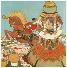 IVAN & il Castagno Cavallo, Edmund DULAC 10 x 12 in superba stampa montata pronta