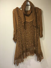 Women Lagenlook Tunic Mohair Lace Dress Italian Quirky Long Sleeve PLUS Size Top