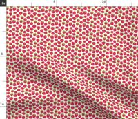 Tiny Strawberries Strawberry Strawberry Patch Spoonflower Fabric by the Yard