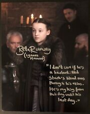 Bella Ramsey Signed 8x10 Lyanna Mormont Game of Thrones w/Quote Exact Proof