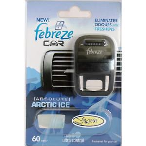 Febreze Car Air Freshener Starter Kit Diffuser Refill Arctic Ice Caravan Vehicle