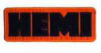Hot Rod Patch Hemi badge Drag Race Muscle Car Mopar Dodge Plymouth orange
