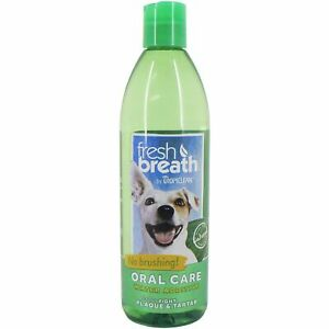 TropiClean Fresh Breath Dental Health Solution for Dogs 473ml Additive for Water