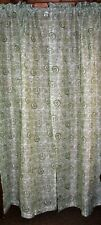"(1) Pair Abstract Motif Curtains ~ Green & White ~ 42"" W x 84"" L  Ea Panel"