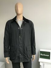 Barbour ASHBY Navy Blue Men's Waxed Wax Cotton Jacket Coat Large L 42.5 - £209