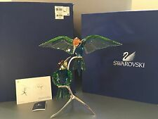 "SWAROVSKI Crystal ""BEE-EATERS PERIDOT"" 957128 MINT w/ Original Box & COA Birds"