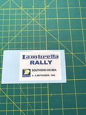 LAMBRETTA VESPA SCOOTER RALLY SOUTHEND ON SEA 1965 STICKER TS1,RB,SX,LI,GP,GT