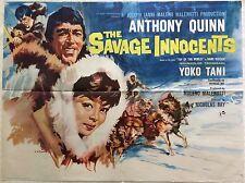 The Savage Innocents Original British Movie Quad Film Poster 1960 Eric Pulford