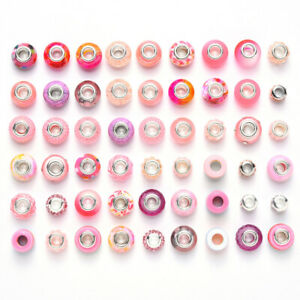 7 Color Choices 54pc Mix Acrylic Resin Polymer Clay Rhinestone European Beads US