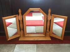 Antique Pine Dressing Table Triple Mirror Fully Adjustable Excellent Condition