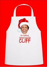 Cliff Richard Novelty Christmas Chefs Apron Secret Santa Gift Novelty Apron