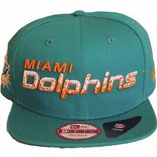 New Era Miami Dolphins Team Filler Snapback Baseball Cap Hat Aqua Green Orange