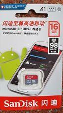 SanDisk Ultra 16GB Class 10 microSDHC Card SD Phone Memory Storage