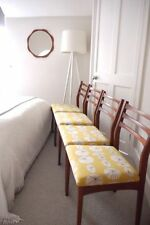 Fabric Vintage/Retro Chairs with 4 Pieces