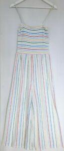 Ladies Rainbow Striped Jumpsuit Topshop Size 14 Y2K