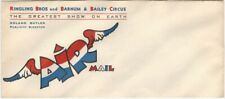 Ringling Bros. Barnum & Bailey Air Mail Business Decorated Circus Envelope