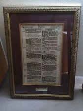 1611 First Edition King James Pulpit Bible Leaf