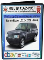 Range Rover L322 Service & Repair Workshop Manual 2002 -2006 On CD