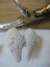Angel Wings Hanging Decoration Ornament Symbolic Ivory 8x8cm