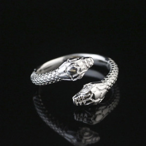 """Bague argent """"Two Silver Snakes"""" - Serpent - Ouverte - Envoi de France immédiat"""