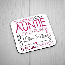 Personalised Square Coaster - Greatest Auntie