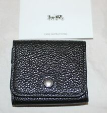 NWT Coach Earbud Storage Case Wallet - Black Pebble Leather - 25472