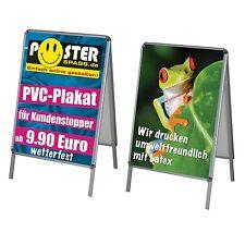 2x PVC-Poster/Plakat-Druck DIN A1 wetterfest für Kundenstopper 24h Druck
