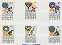 GRENADA 1976 50 Jahre Pfadfinderinnen auf Grenada kpl. gestempelter Kab.-Satz