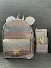 Disney Rainbow Backpack Rucksack Bag And Purse Bundle Rare Only One Primark BN🌹