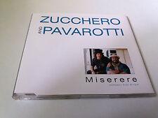 "ZUCCHERO AND PAVAROTTI ""MISERERE"" CD SINGLE 3 TRACKS"