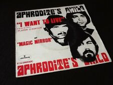 "Vinyle 45 tours  Aphrodite' s  Child   "" I want to live ""  (1969)"