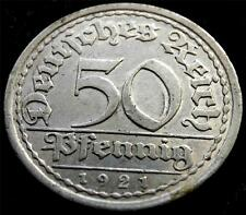 1921-A GERMANY 50 PFENNIG COIN