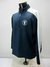 Vancouver 2010 Olympic Men's L Navy White 1/4 Zip Athletic Shirt Elevate