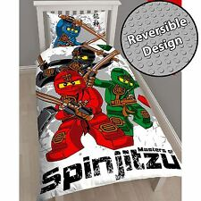 LEGO NINJAGO WARRIOR KIDS TWIN DUVET COVER BED SHEETS SET CHILDRENS BEDDING
